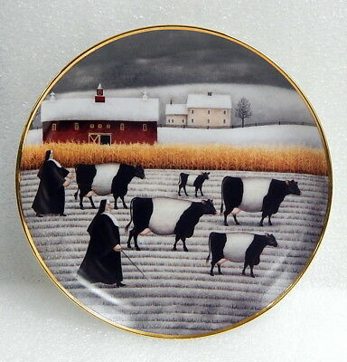 Vintage Limited Ed. Franklin Mint Lowell Herrero Holy Cow & Nun Collector Plate