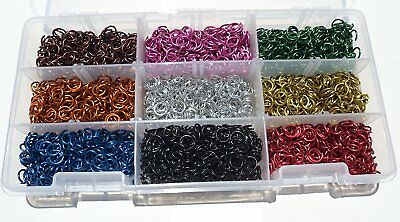 Aluminum Chain Mail jump Rings Anodized Colored Links Jewelry Chainmail Gift Set