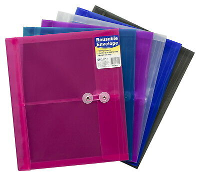 C-Line Reusable Poly Envelope with String Closure, Side Load, Set of 24