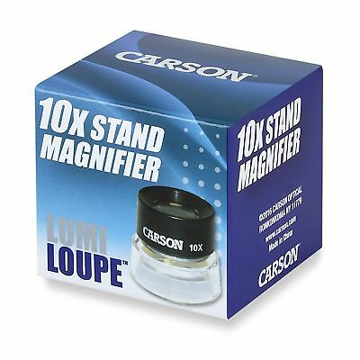Carson Lumiloupe Series Pre-Focused Stand Magnifier 10X Magnification Ll-10