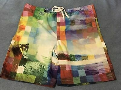 cb82e12b27 Pacific Surf By Exist Mens Large Rare Design Board shorts Excellent  Condition