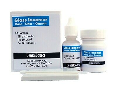 Permanent Glass Ionomer Dental Cement Crown Bridge Veneer Cure Luting Adhesive