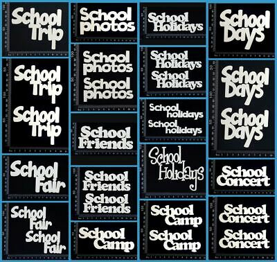 White Chipboard - School - Collection Four