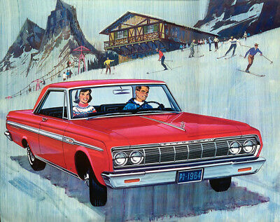 1964 Plymouth Fury Coupe, RED, Refrigerator Magnet, 40 MIL