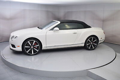 2014 Bentley Continental GT V8 Convertible in Glacier White with 10,597 miles 2014 BENTLEY CONTINENTAL GTC V8 IN GLACIER WHITE WITH FIREGLOW LOW MILES