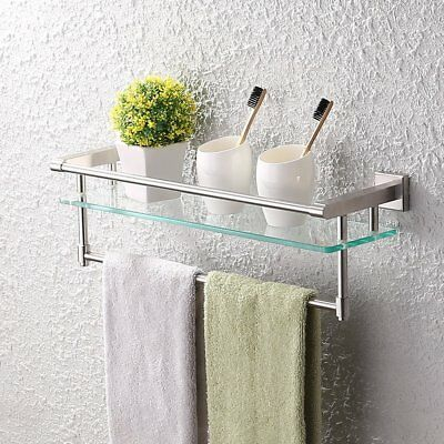 Kes A2225 2 Sus304 Stainless Steel Bathroom Gl Shelf Wall Mount With Towel