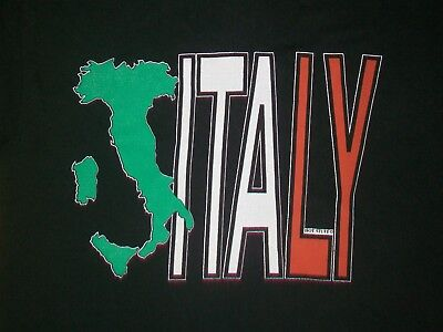 ITALY COLOR FLAG SOUVENIR t shirt L country europe vacation college travel