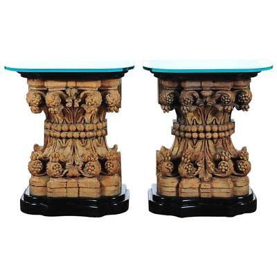 16th century Italian Renaissance Highly carved Console Tables -A pair