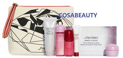 SHISEIDO WHITE LUCENT TRAVEL KIT 6pc with ECO POUCH