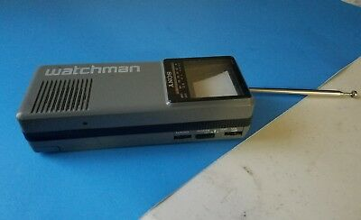 Sony Watchman Portable Black & White TV FD-10A Vintage 1986 Works