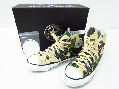 5ea613389543 CONVERSE ALL STAR 100 GORE TEX High cut Sneaker Camouflage CAMO 9.5 Used  Japan