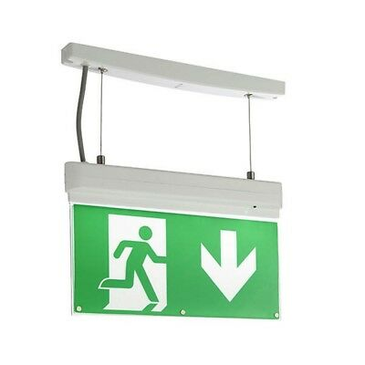 SAXBY Sight 4-in-1 EM 1W EXIT Sign Surface or Recess Mount Vertical Wall Mount