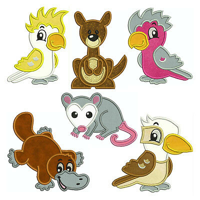 Australian Animals * Machine Applique Embroidery Patterns * 6 Designs, 4 sizes