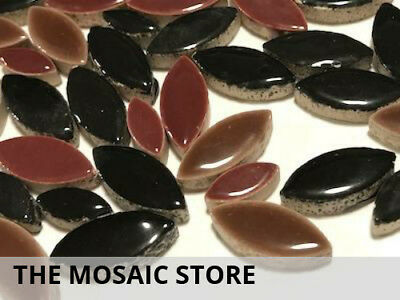 Black & Brown Mixed Ceramic Petals - Mosaic Tiles Supplies Art Craft