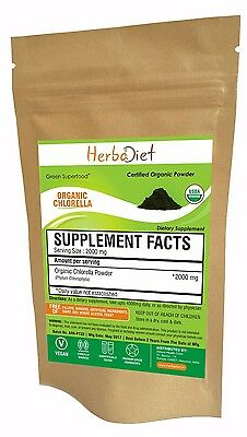 Organic Chlorella Powder Cracked Broken Cell Heavy Metal Detox Boosts Energy