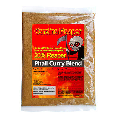 Carolina Reaper Curry Polvo Mix. Warning Esto Es Picante 100G - Receta Incluido