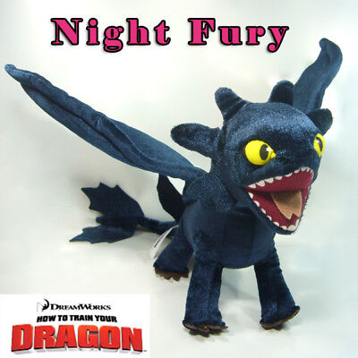 Toothless How to Train Your Dragon Plush Toy Night Fury Fly Movable Wings