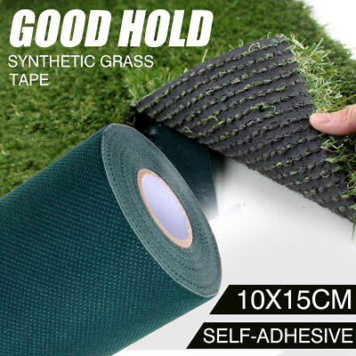 10m x 15cm Artificial Synthetic Grass Turf Tape Self Adhesive Tape Lawn Carpet