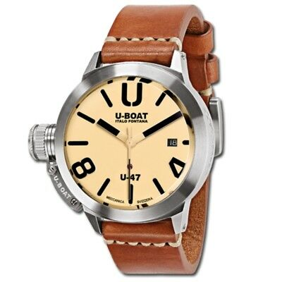 U-Boat Classico U-47 AS 2 Beige Dial Stainless Steel 47mm Automatic Watch 8106