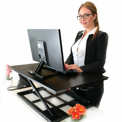 Standing Sit And Stand Up Desk Easy Height Adjustable Table Jack Converter With