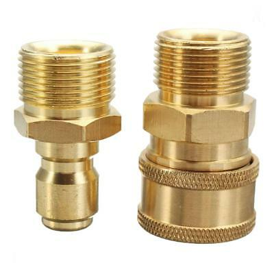 "2PCS Pressure Washer M22 Female to 3/8"" Quick Release Male Adapter"