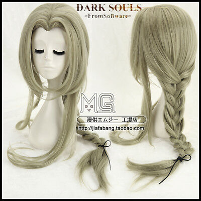 Dark Souls Fire Keeper 85cm Anime Cosplay Costume Wig +Wig Cap