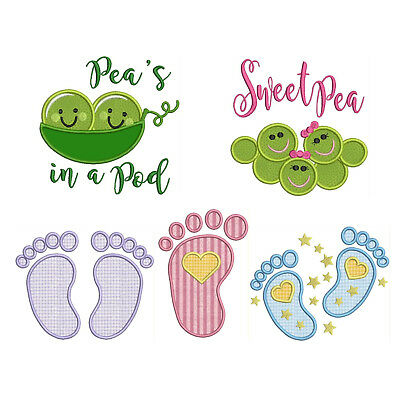 BABY 1 * Machine Applique Embroidery Patterns ** 5 Designs, 4 sizes