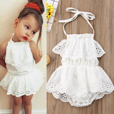 Newborn Toddler Baby Girl Infant Lace Romper Jumpsuit Bodysuit Clothes Outfit
