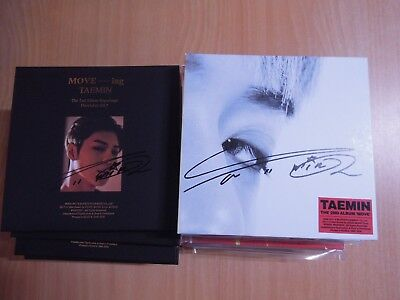Taemin - Move + MOVE-ing (promo SET) with Autographed (Signed)