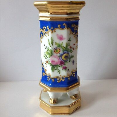 Antique 19th Century French Porcelain Spill Vase Decorated With Flowers 15cm