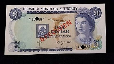 1978-1984 Bermuda Specimen 6 Note Set $1-$100 Uncirculated