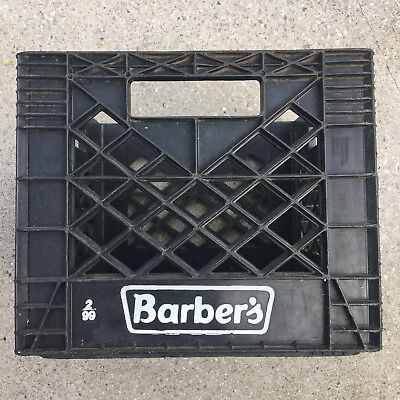 Barber's 1999 Plastic Milk Crate made by Plastican. Good Condition.
