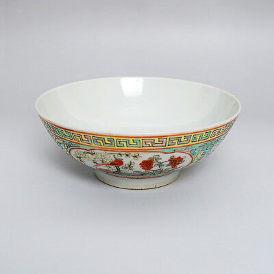 Excellent Chinese Porcelain Flowers&Birds Painting Bowl Marks GuangXu W/Box