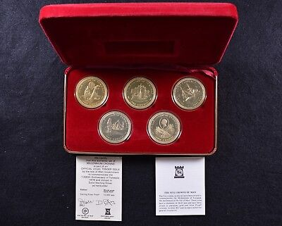 1979 Isle of Man 1,000th Anniv. of Tynwald Five Sterling Silver Crowns w/ COA