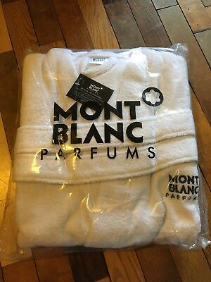 Mont Blanc Parfums Mens Bath Robe  White -- One Size -- 100% cotton
