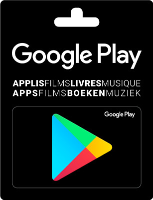 Google Play Carte Cadeau Gift Card 15 EUR - €15 Euro Android Store Boutique FR