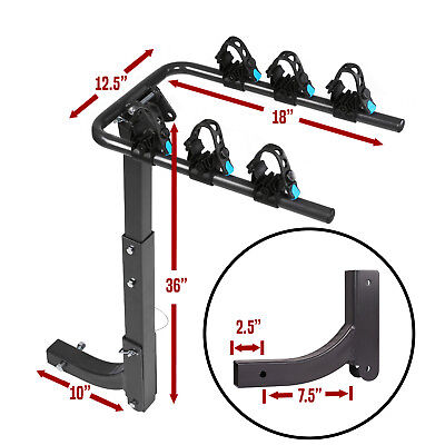 """Swing Away Hitch Mount Bike Rack for 3 Bikes  - Fits 2"""" Receivers, Free Shipping"""