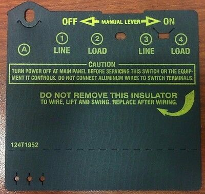 Intermatic Swimming Pool Pump Timer Wire Cover New Type 124T1952