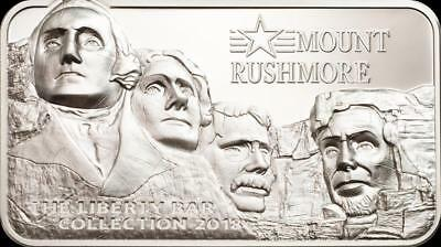 2018 Mount Rushmore High Relief 2oz Silver Coin - $10 Cook Islands