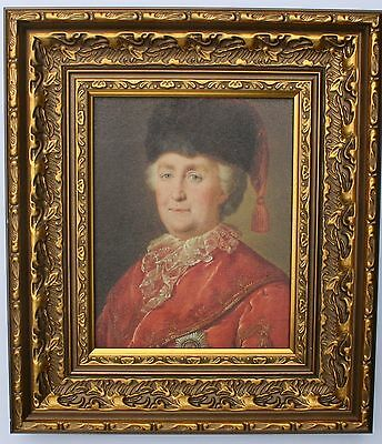 Catherine the Great Framed Oleograph R515#E Reproduction Picture , Art .