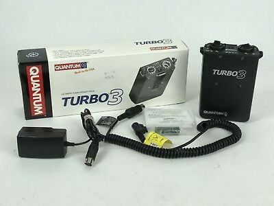 Quantum Turbo 3 Battery Pack w/Charger & Cable For Canon Flash *Made In USA*