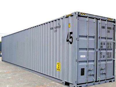 """45ft high cube  (9´6 high) New """"One-trip"""" shipping container, Houston, Texas"""