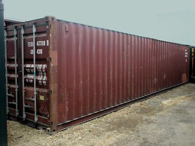 40ft (8,6 high) shipping container in cargo-worthy condition, Houston, Texas