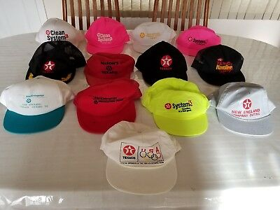 Texaco Hats Caps Collection Gas Oil Vintage