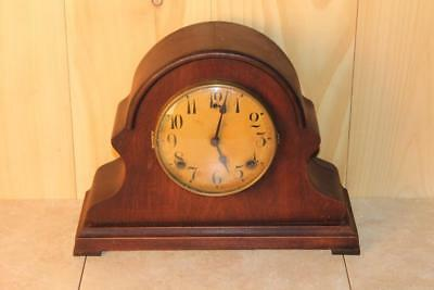 Uniquely Styled Antique Gilbert 8 Day Striking Mantle Clock