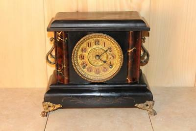 Antique Gilbert 8 Day Mantle Clock In Running Condition ~1906~