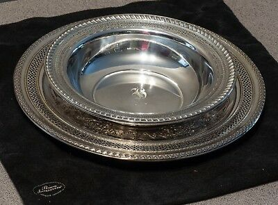 "Watson, Sterling Silver 9"" Pierced .925 Round Vegetable Bowl #B63"