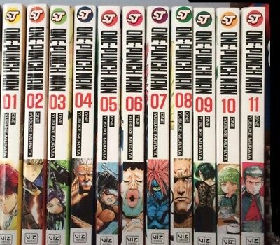 * One Punch Man Manga Set Vols 1-11 Anime Series Inc Malay Complete Series DVD *