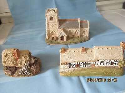 Lilliput Lane Lot of 3 - St. Mary's Church, Anne Hathaway, Watermill