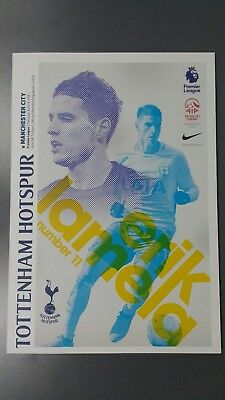 Spurs v Manchester City 14/04/2018 Official Wembley Matchday Programme